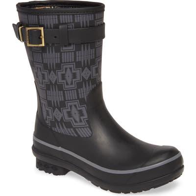 Pendleton Harding Waterproof Short Rain Boot, Black