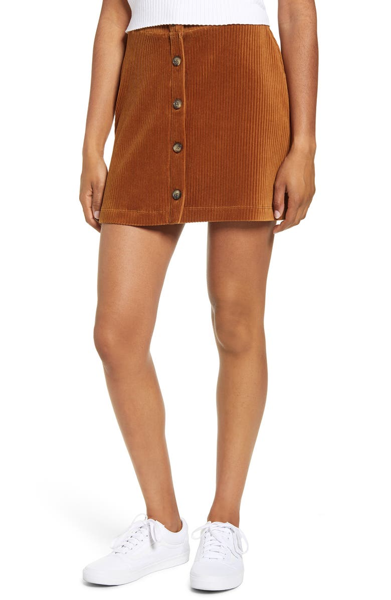 UNIONBAY Paris Wide Wale Corduroy Skirt, Main, color, 218