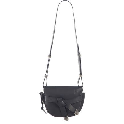 Loewe Small Gate Western Calfskin Leather Crossbody Bag - Black