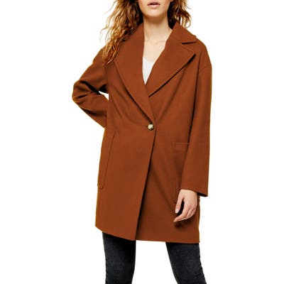 Petite Topshop Carly Coat, P US (fits like 10-12P) - Brown