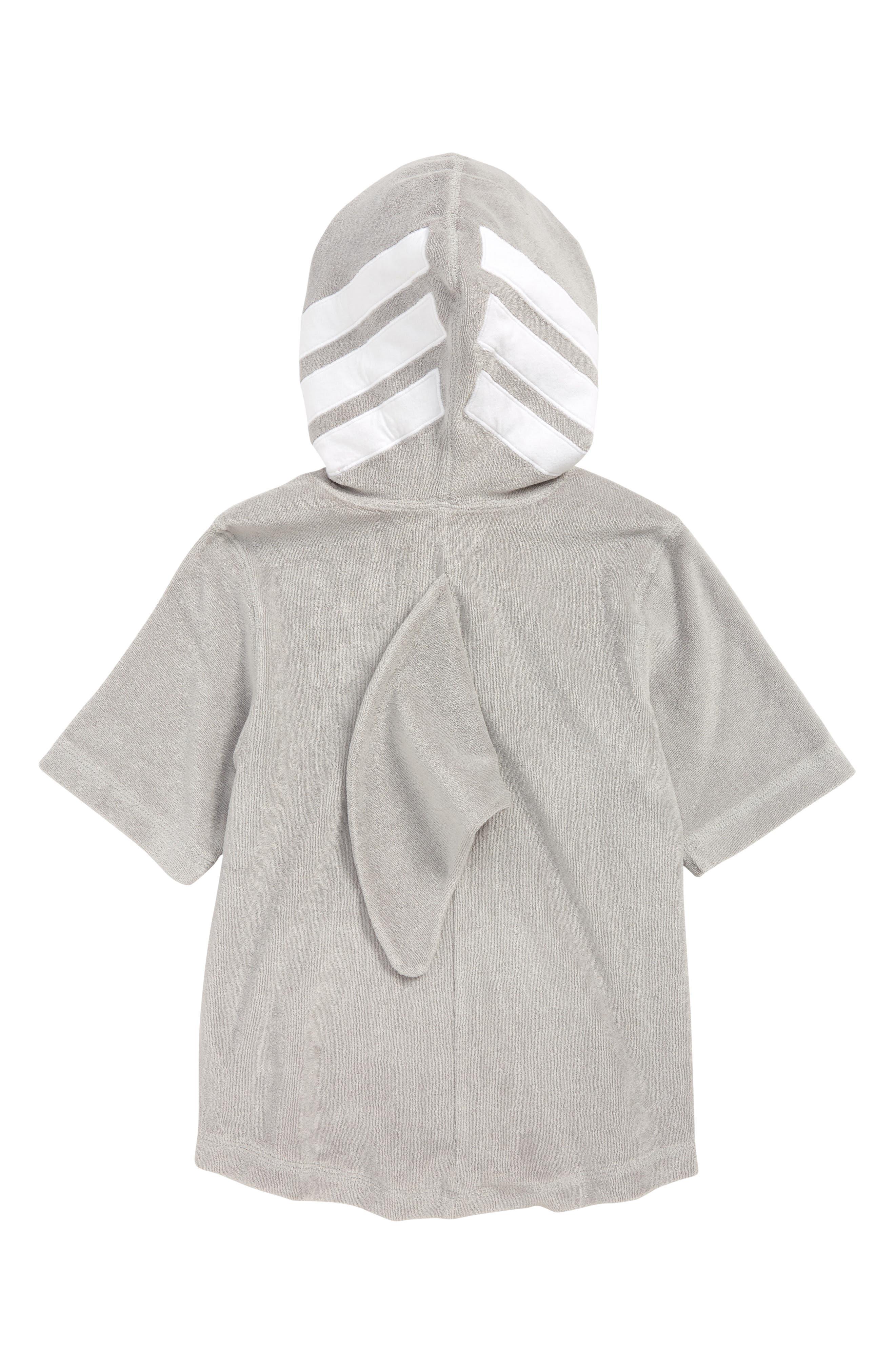 ,                             Animal Towel Cover-Up,                             Alternate thumbnail 2, color,                             GREY ALLOY SHARK