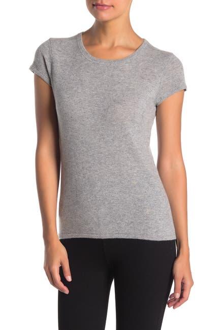 Image of Catherine Catherine Malandrino Short Sleeve Cashmere T-Shirt