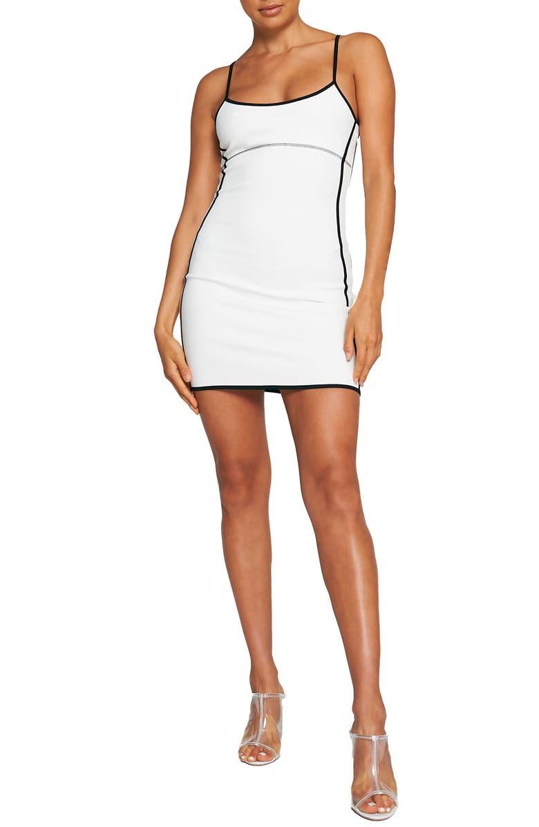 TIGER MIST Camryn Body-Con Dress, Main, color, WHITE