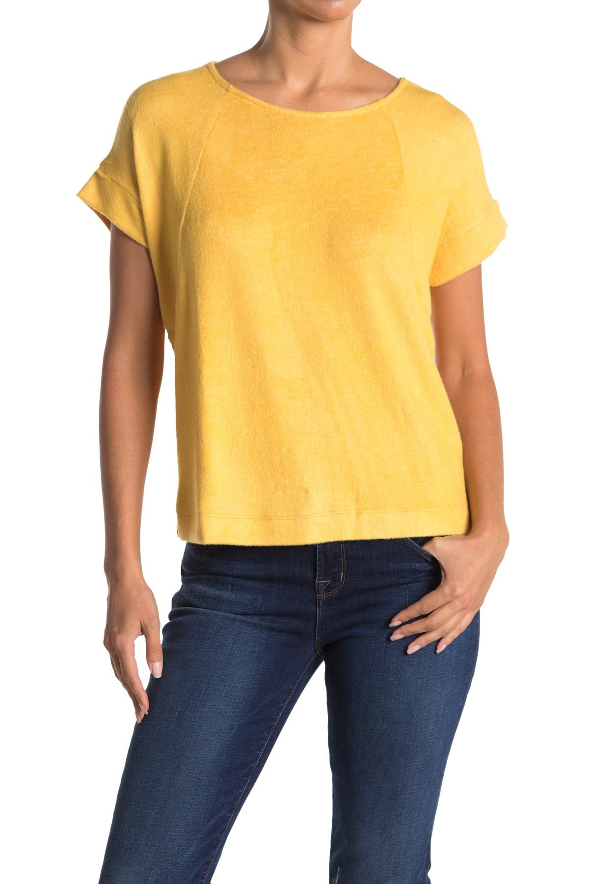 Image of Bobeau Hacci Raglan Sleeve Sweater Top