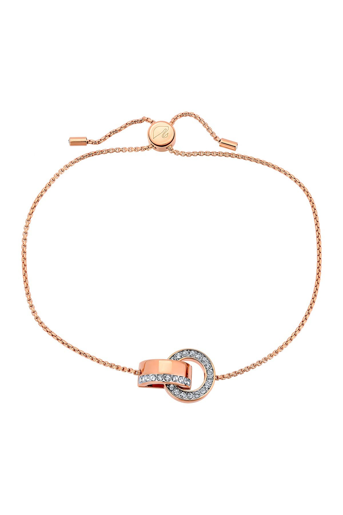 Image of Swarovski Hollow Pave Swarovski Crystal Interlocking Ring Bracelet