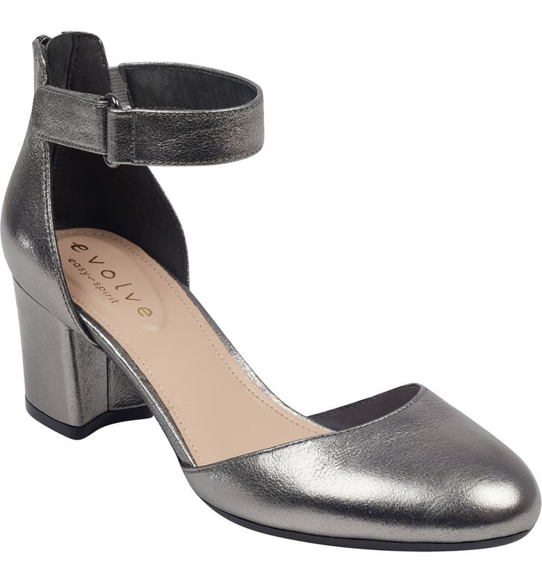 EVOLVE Crystal Pump, Main, color, PEWTER SUEDE