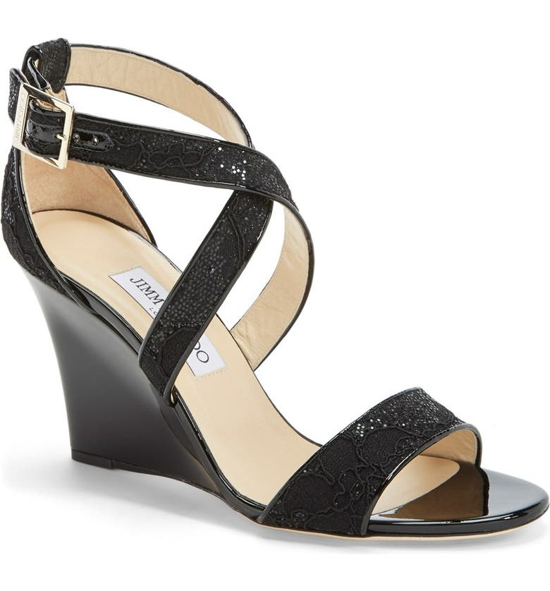 JIMMY CHOO 'Fearne' Sandal, Main, color, 001