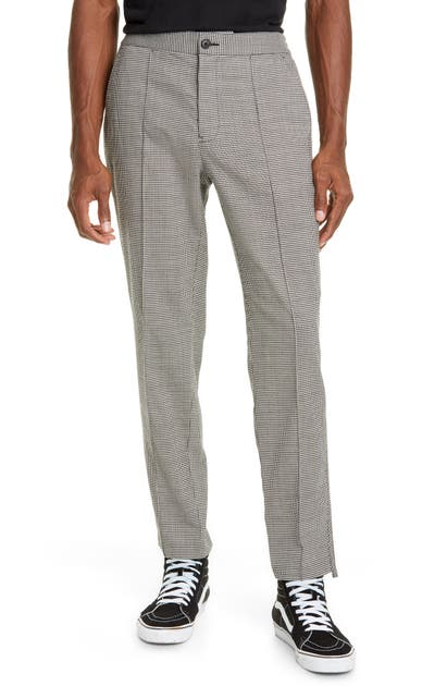 Ovadia & Sons Pants STRAIGHT LEG HOUNDSTOOTH STRETCH WOOL PANTS