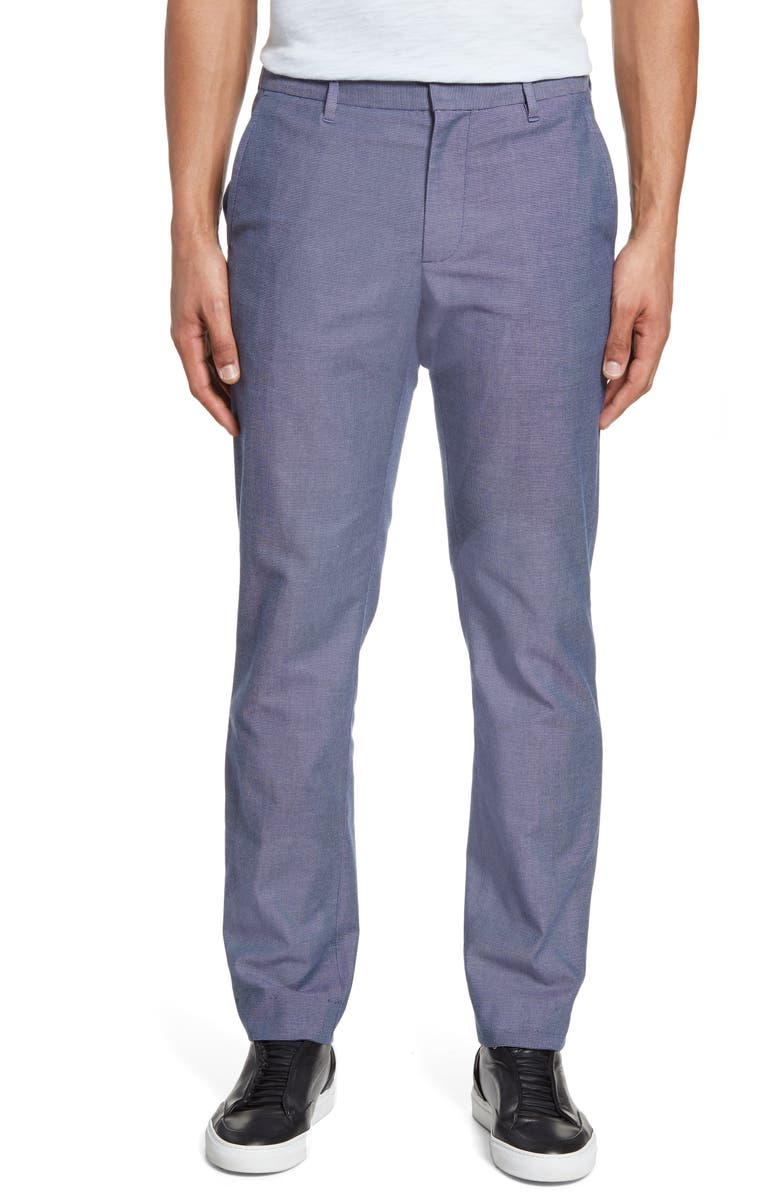 BONOBOS Stretch Weekday Warrior Slim Fit Dress Pants, Main, color, BLUE/GREY