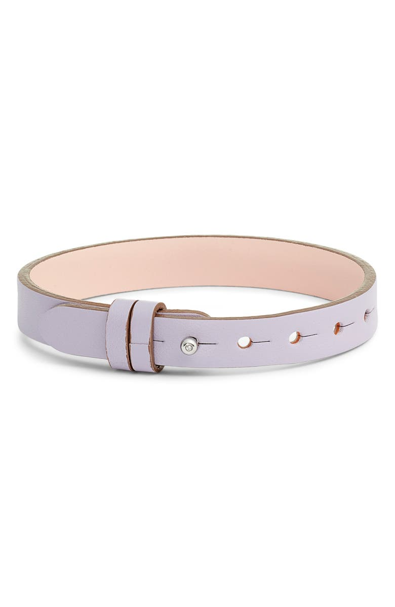 KEEP COLLECTIVE Reversible Leather Band Charm Bracelet, Main, color, LAVENDER