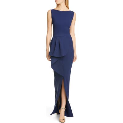 Chiara Boni La Petite Robe Quirina Ruffle Gown, US / 46 IT - Blue