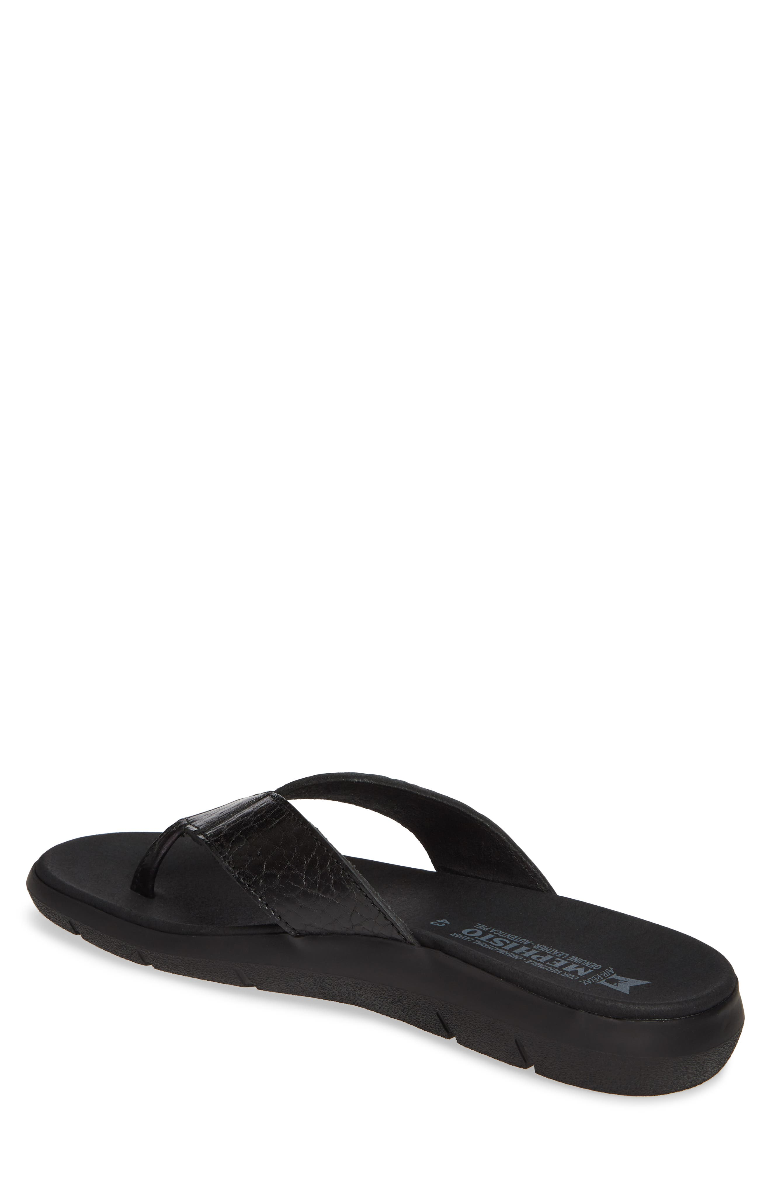 ,                             Charly Flip Flop,                             Alternate thumbnail 2, color,                             BLACK LEATHER