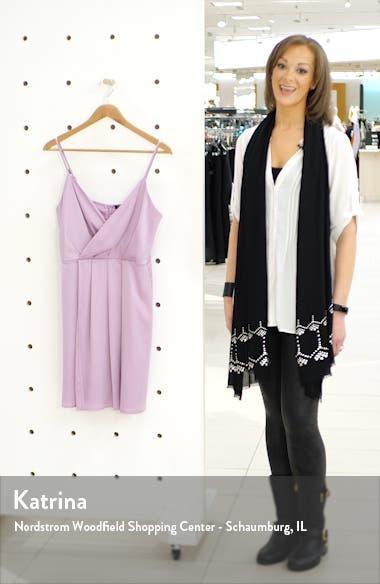 x Hot Summer Nights Natalie Satin Faux Wrap Minidress, sales video thumbnail