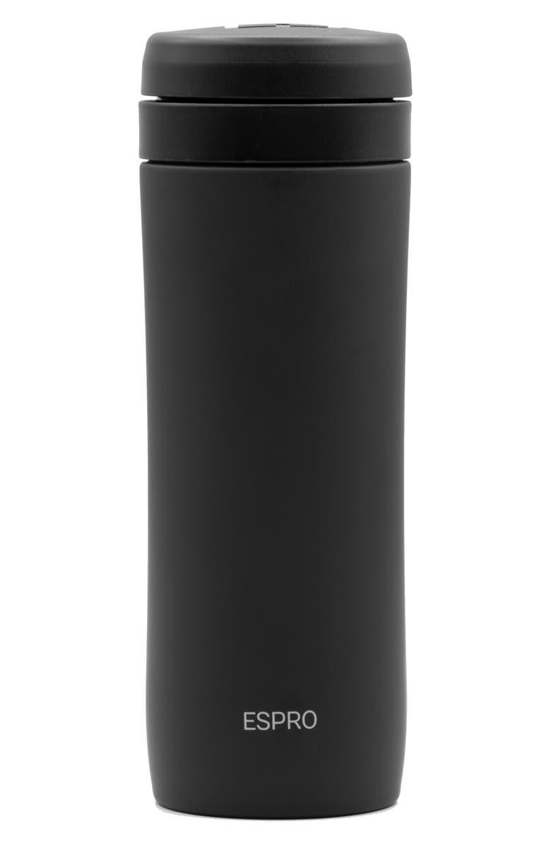 ESPRO P1 Travel Coffee Press, Main, color, MATTE BLACK
