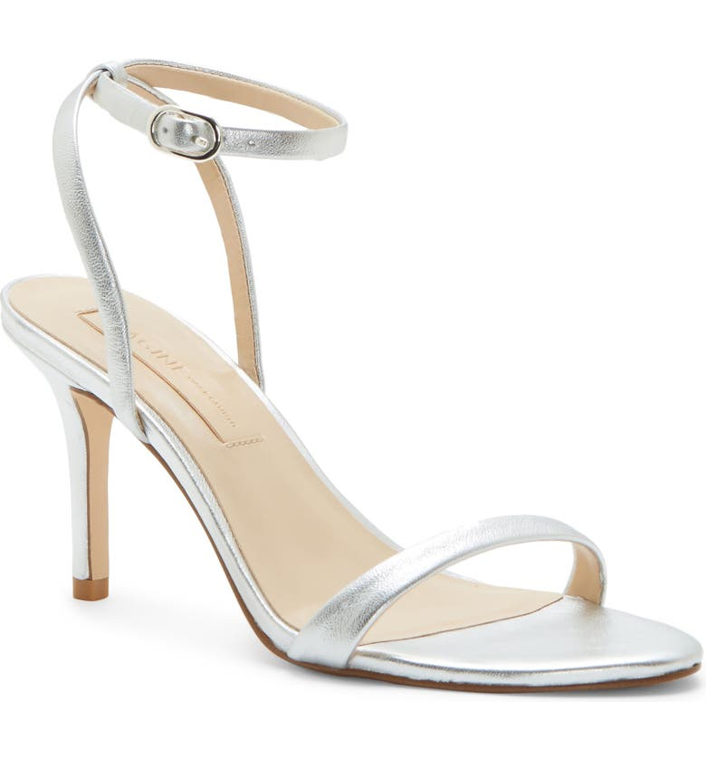 IMAGINE BY VINCE CAMUTO Rayan Ankle Strap Sandal, Main, color, PLATINUM NAPPA LEATHER