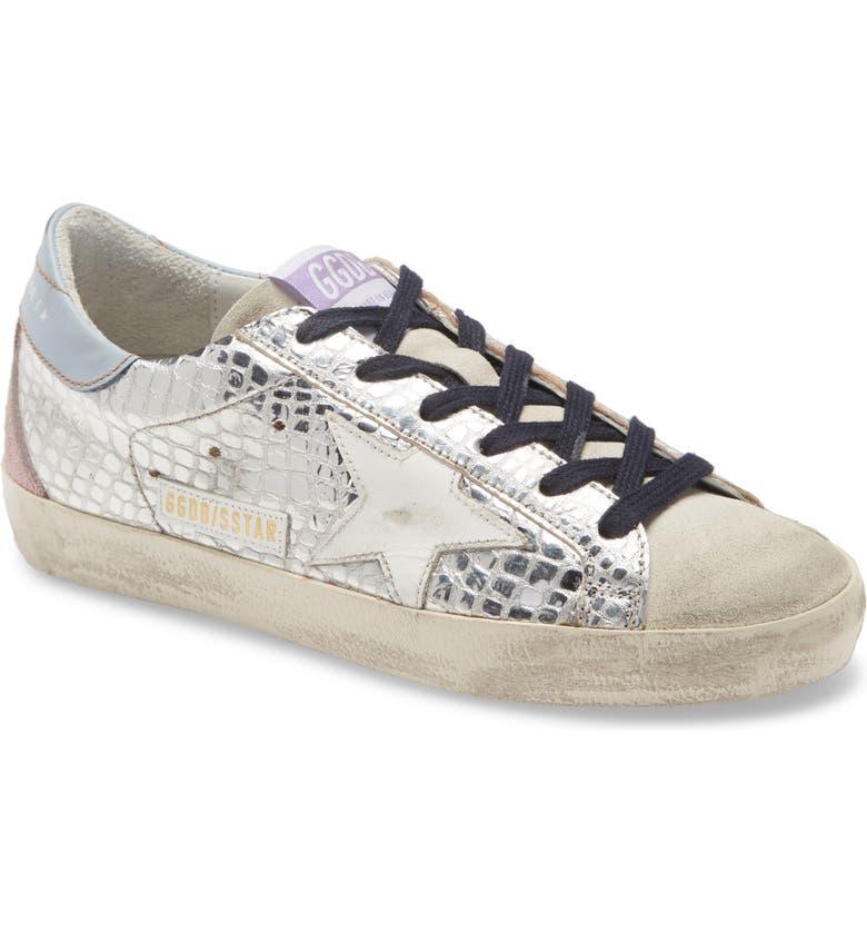 GOLDEN GOOSE Superstar Sneaker, Main, color, SILVER/ WHITE