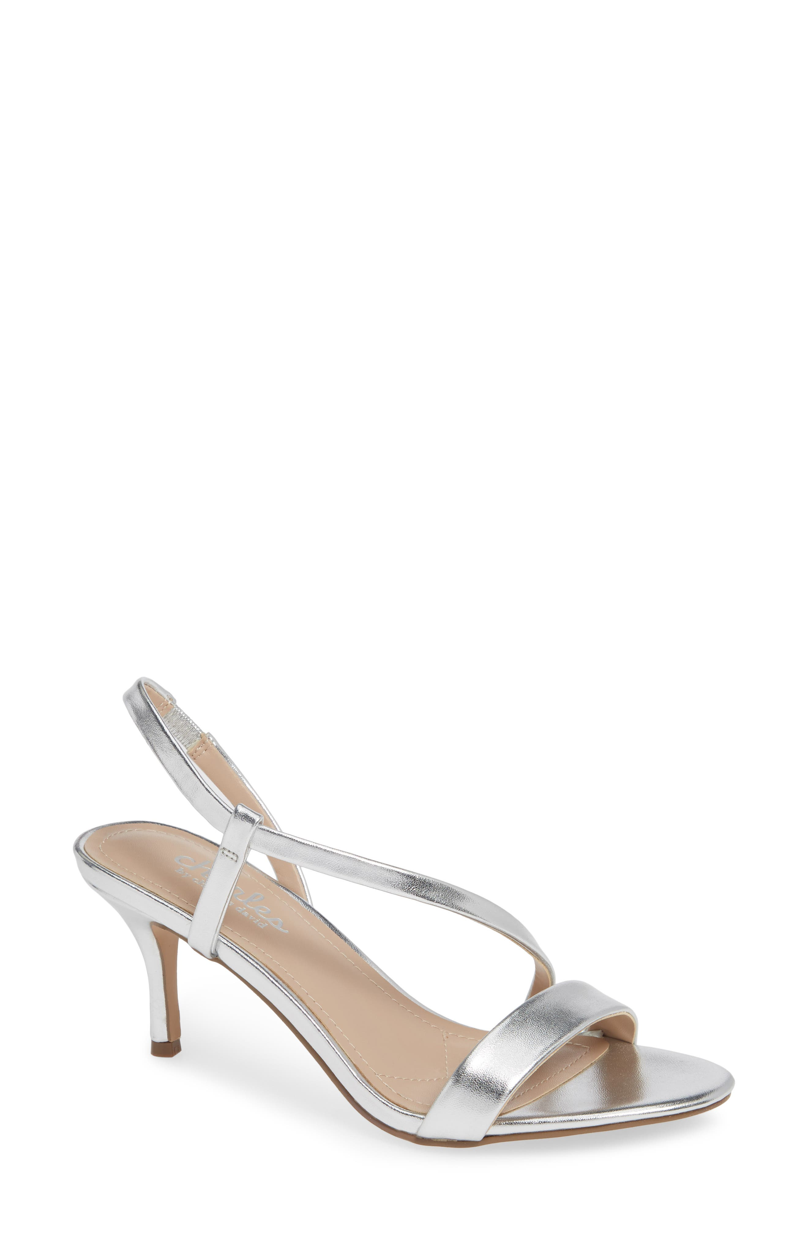 Charles By Charles David Bermuda Asymmetrical Sandal- Metallic
