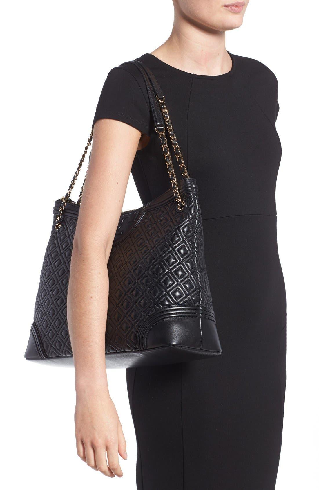 ,                             'Fleming' Leather Shoulder Bag,                             Alternate thumbnail 3, color,                             012