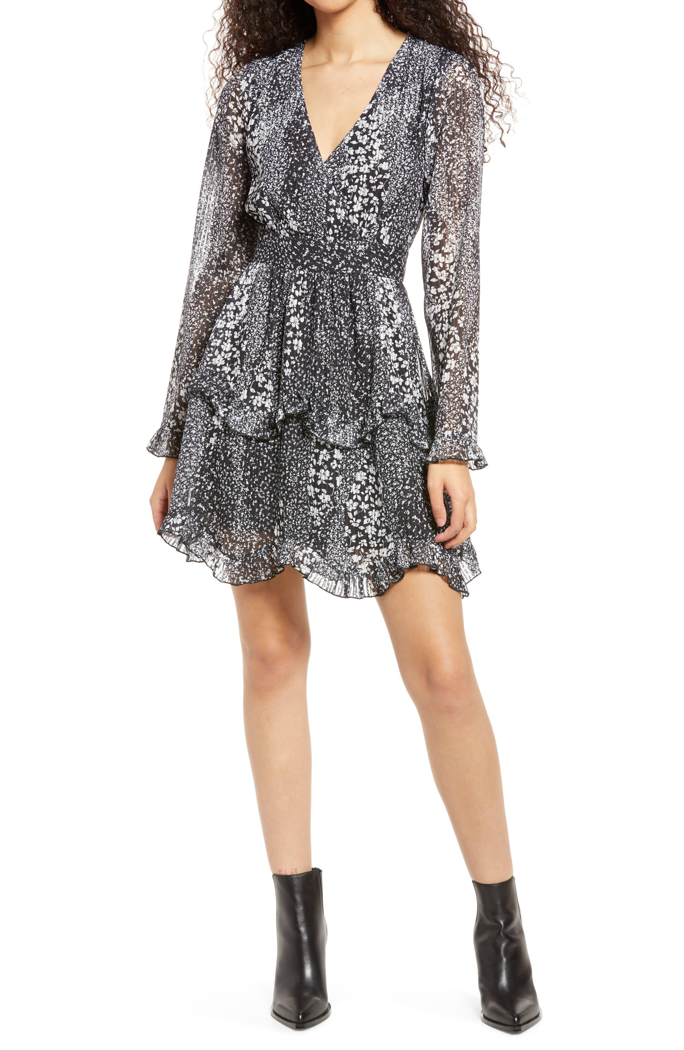 Love Me Right Print Long Sleeve Dress