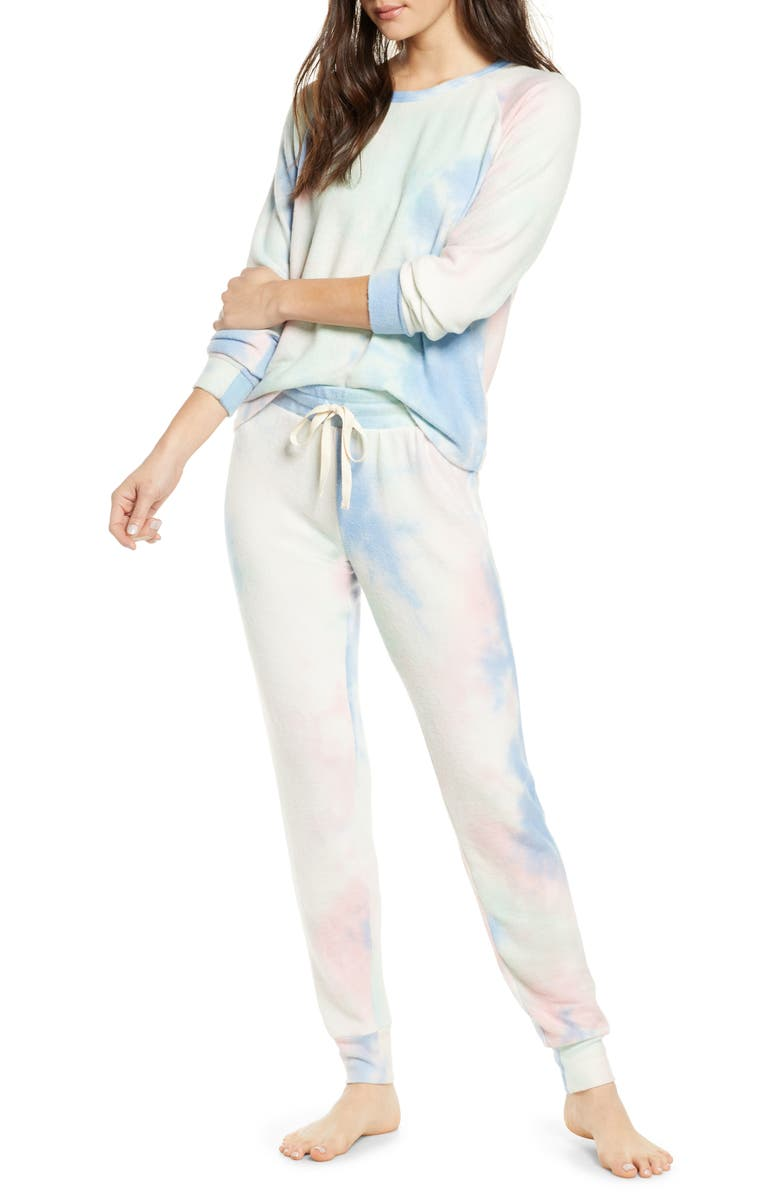 BP. Soft & Cozy Sleepy Pajamas, Main, color, BLUE ROBBIA TIE DYE