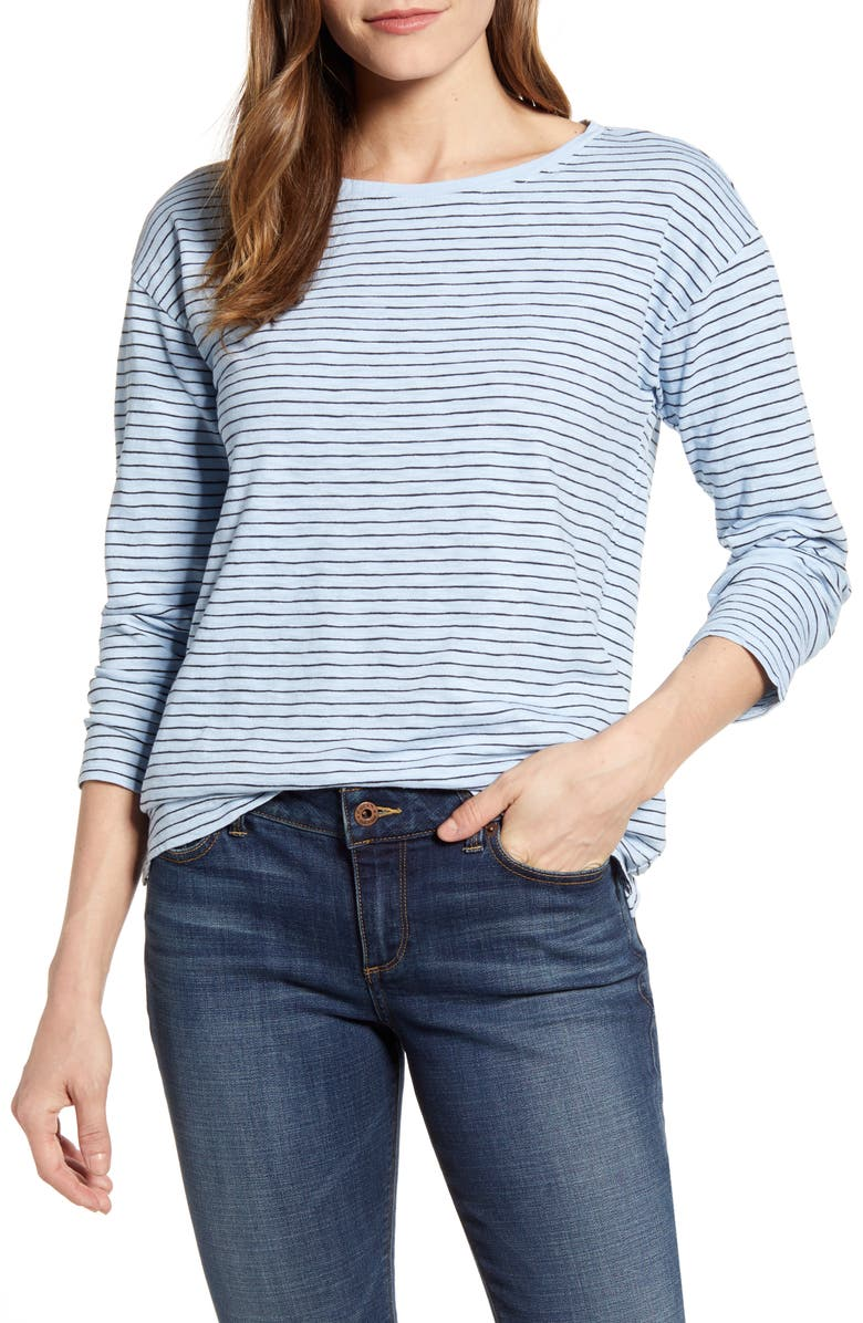 LUCKY BRAND Essential Stripe T-Shirt, Main, color, BLUE MULTI