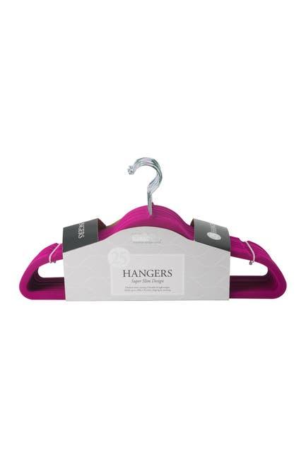 Image of Kennedy International Inc. Fuchsia Simplify Slim Velvet Suit Hanger - Set of 25