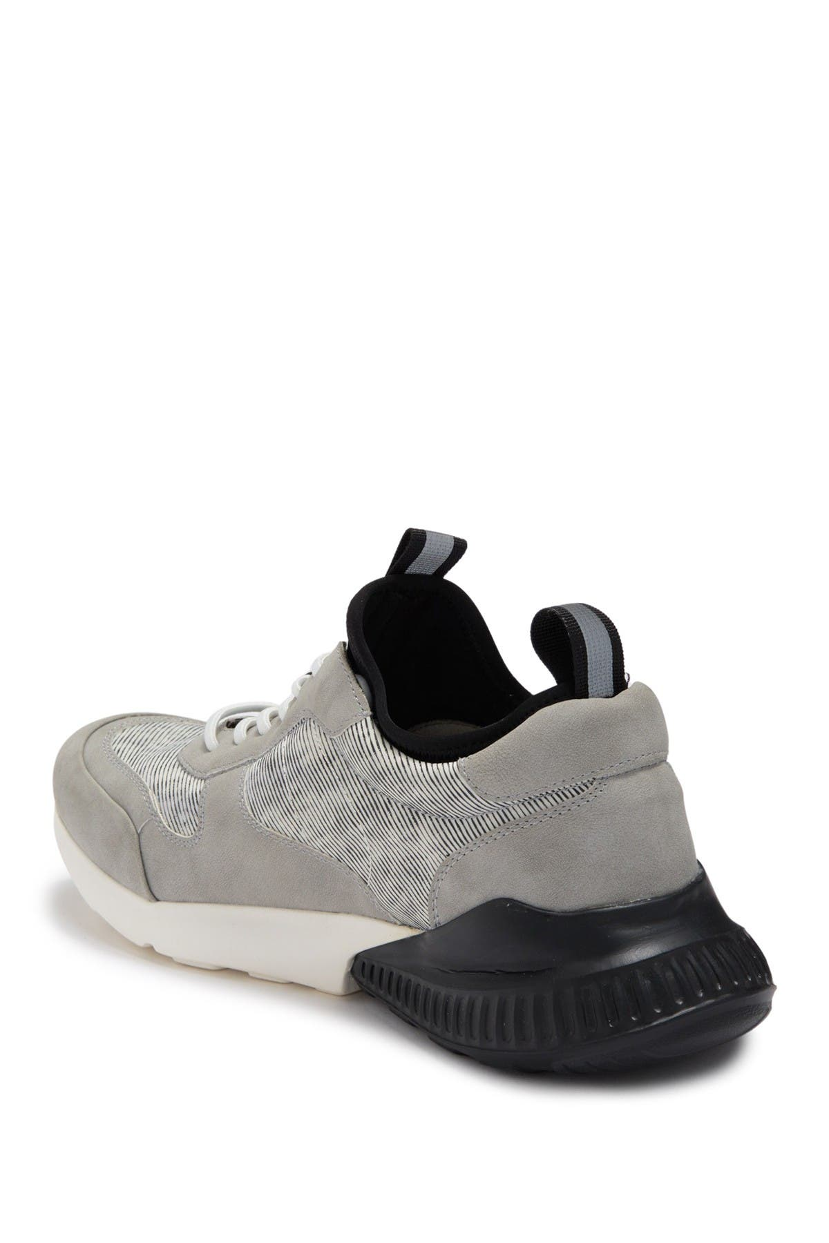 Image of Andrew Marc Two-Tone Camo Mesh Sneaker