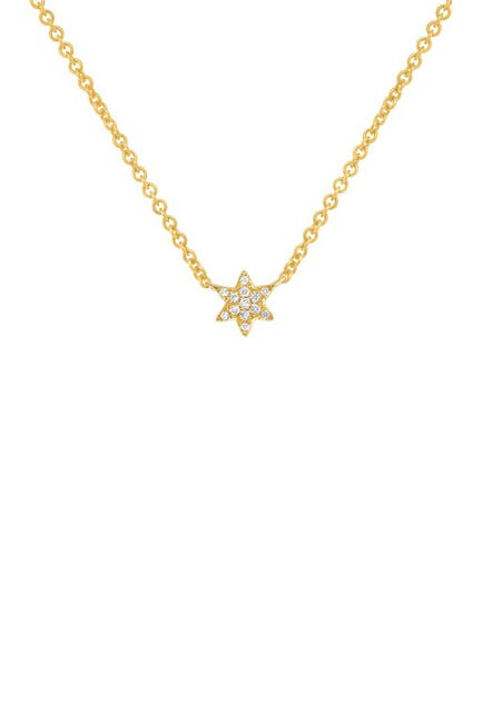 Image of Ron Hami 14K Yellow Gold Diamond Star of David Pendant Necklace - 0.03 ctw