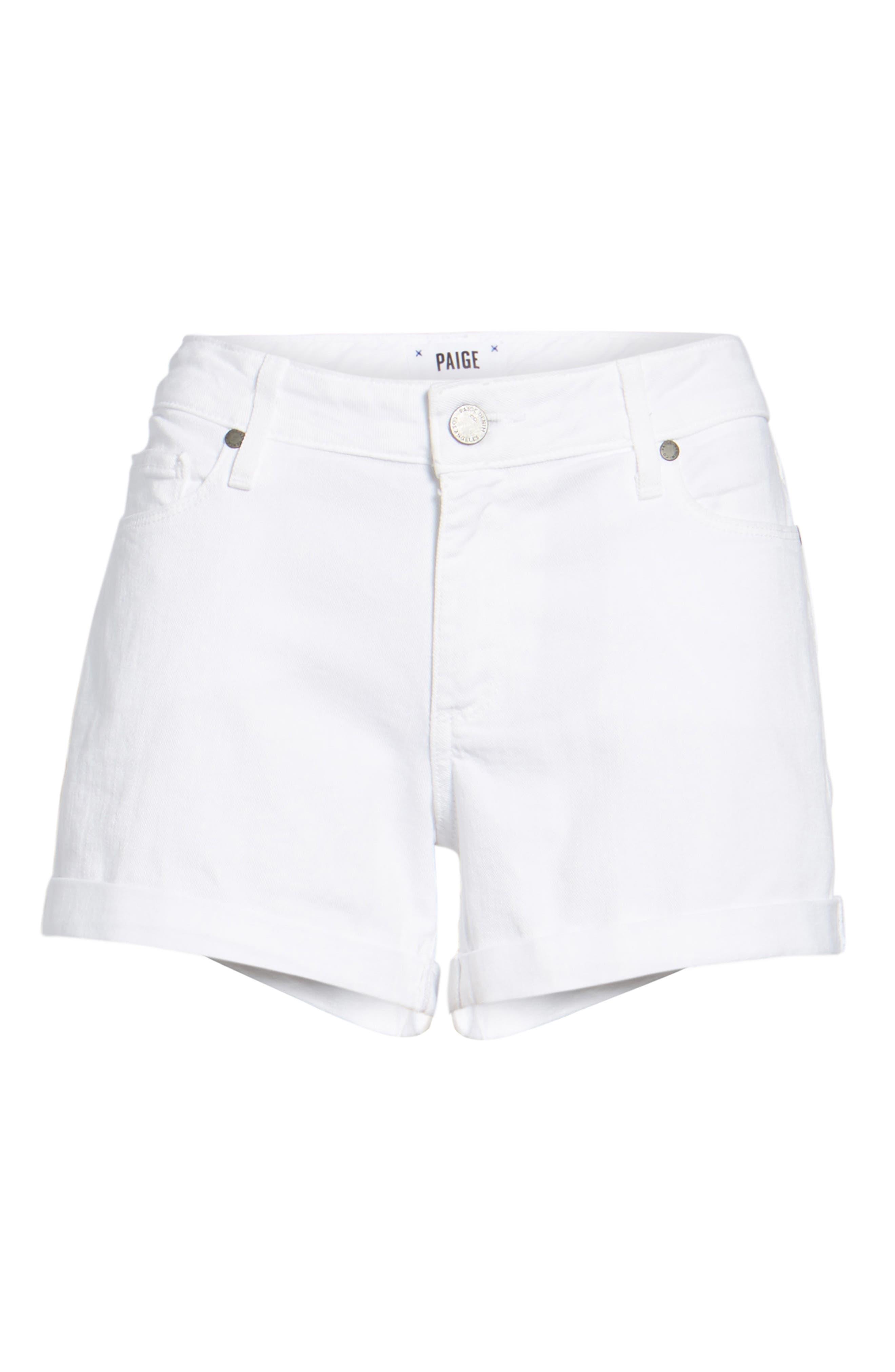 Paige 1226274-OWT /'Jimmy Jimmy Boyfriend Short/' in Optic White Size 29