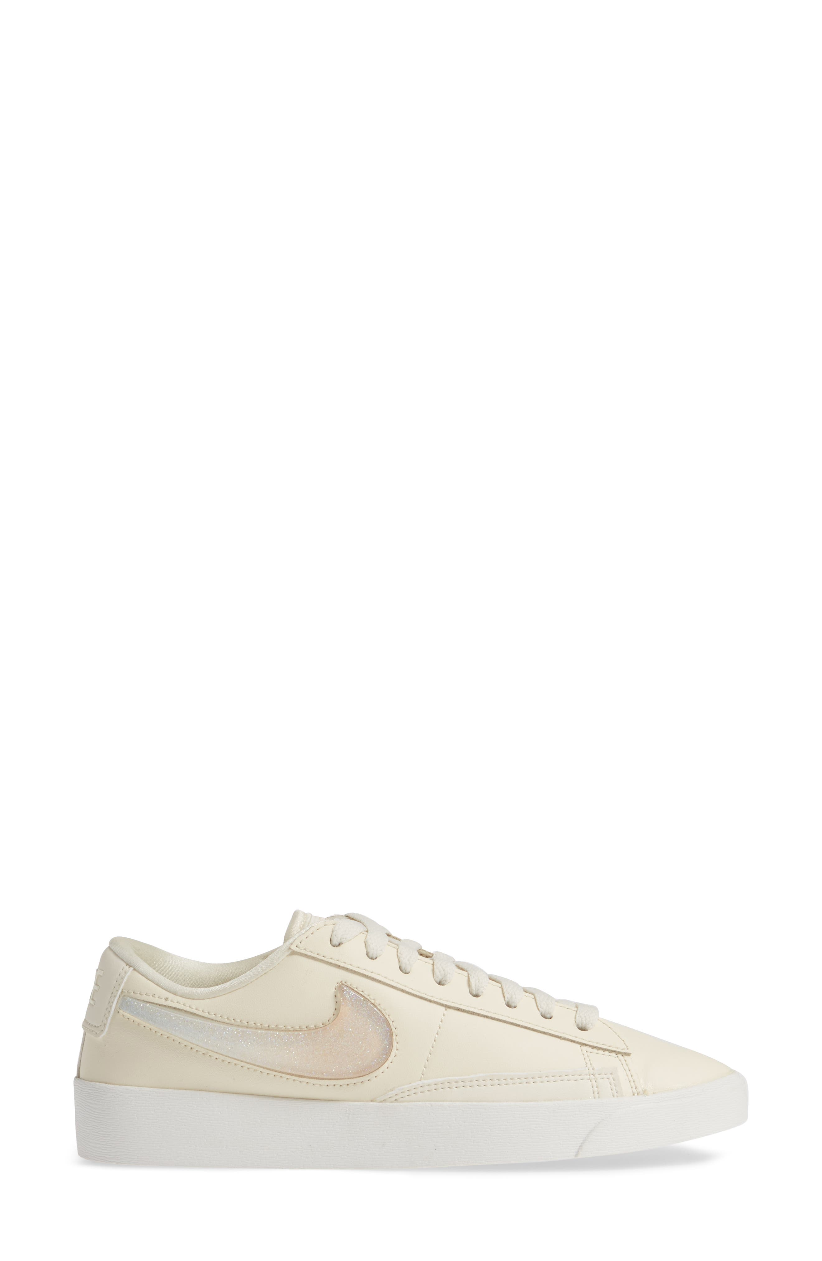 ,                             Blazer Low LX Sneaker,                             Alternate thumbnail 3, color,                             PALE IVORY/ GUAVA ICE/ WHITE