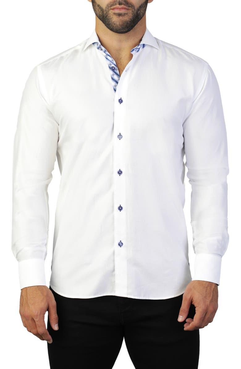 MACEOO Einstein Ceremony White Regular Fit Shirt, Main, color, WHITE