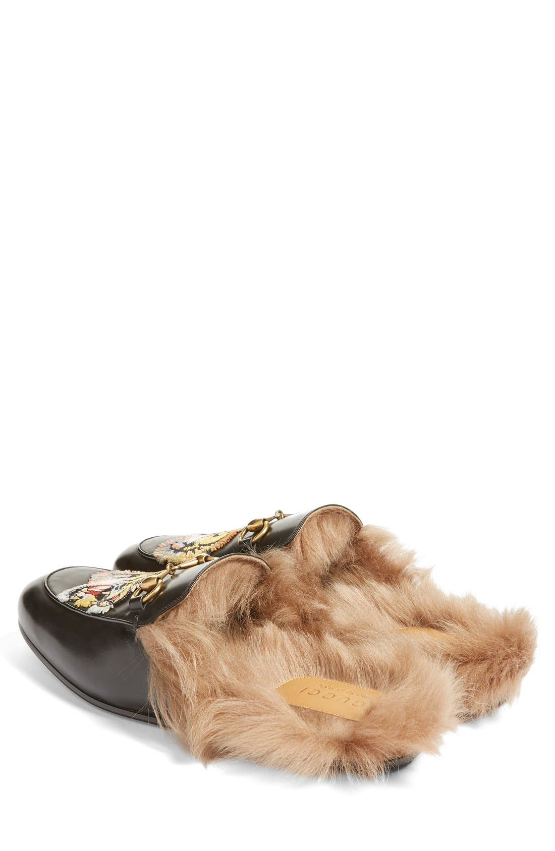 ,                             Princetown Genuine Shearling Lined Mule Loafer,                             Alternate thumbnail 24, color,                             008