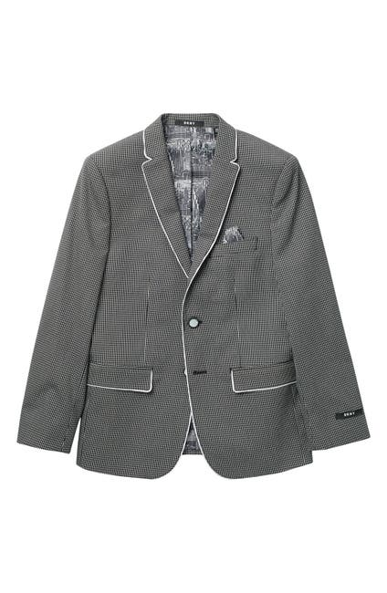 Image of DKNY Mini Grid Cotton Blazer