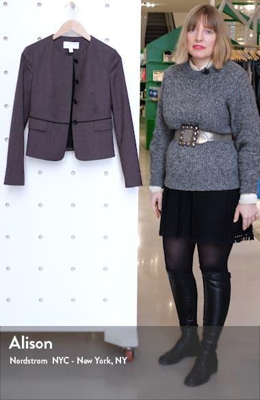 Jokile Microcheck Suit Jacket, sales video thumbnail