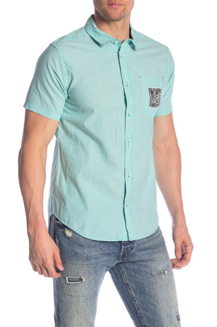 Image of RVCA Resort Disruption Short Sleeve Shirt