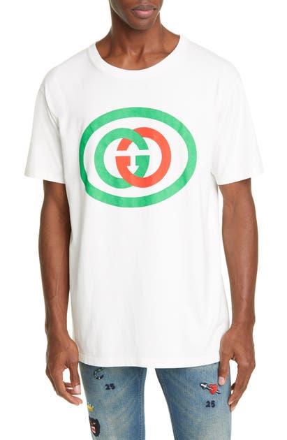 Gucci T-shirts OVERSIZE INTERLOCKING-G LOGO COTTON T-SHIRT