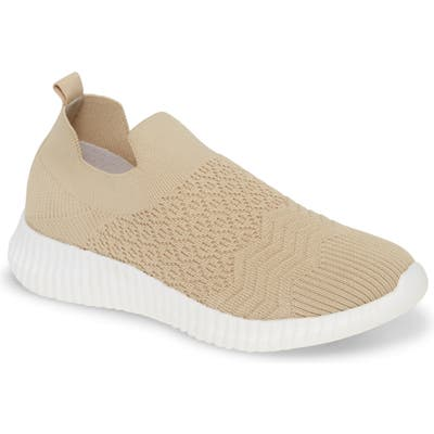 David Tate Tiptop Knit Sneaker- Beige