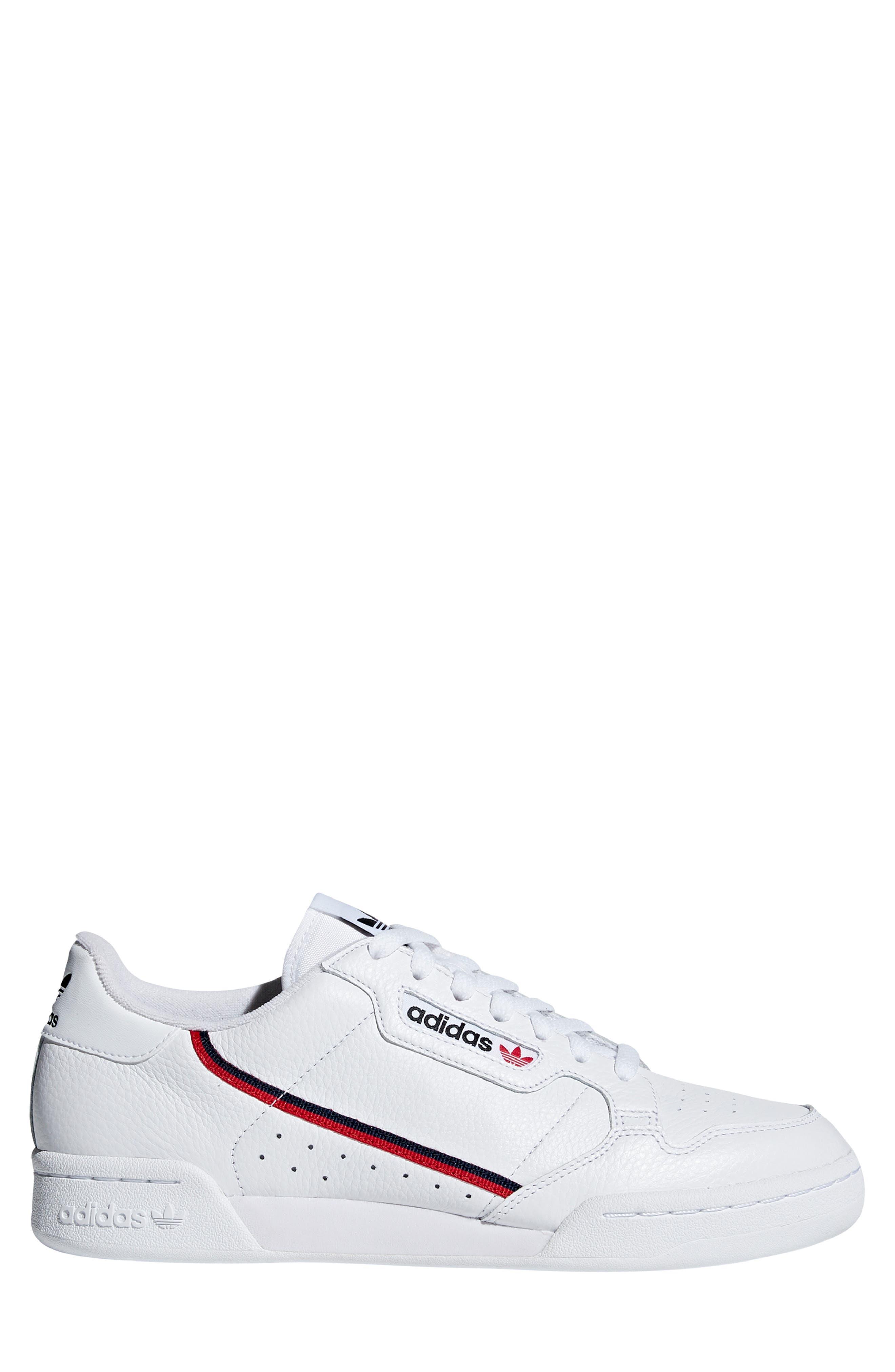 ,                             Continental 80 Sneaker,                             Alternate thumbnail 3, color,                             WHITE/ SCARLET