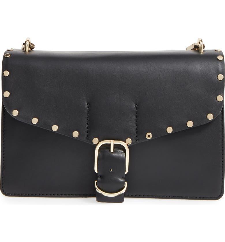 REBECCA MINKOFF Medium Biker Leather Shoulder Bag, Main, color, 001