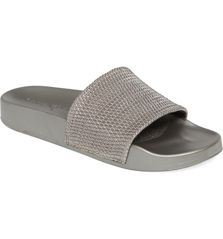 KATY PERRY The Jimmi Slide Sandal, Main, color, GUNMETAL