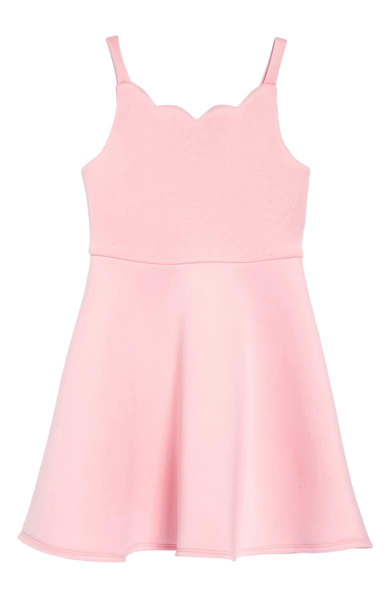 ZUNIE Scuba Skater Dress, Main, color, 686