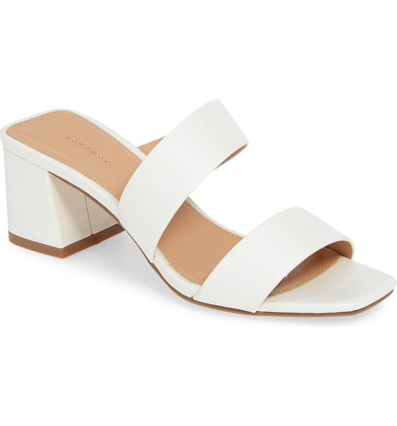 TOPSHOP Darla Slide Sandal, Main, color, WHITE