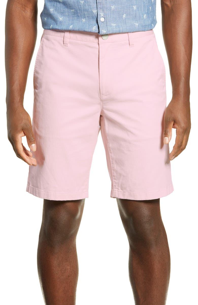 BONOBOS Stretch Washed Chino 9-Inch Shorts, Main, color, CADILLAC PINK