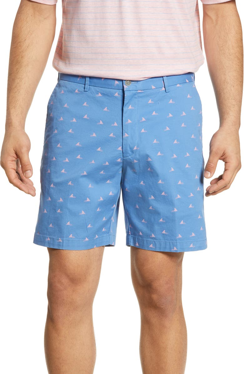 PETER MILLAR Shark Print Shorts, Main, color, 422