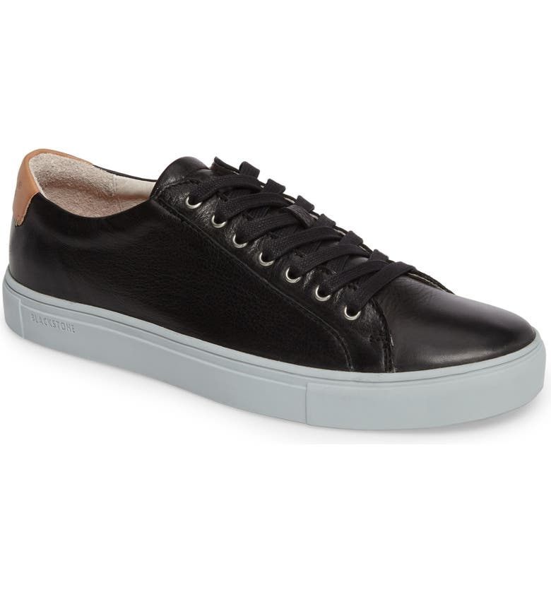 BLACKSTONE NM01 7 Eyelet Sneaker, Main, color, BLACK LEATHER