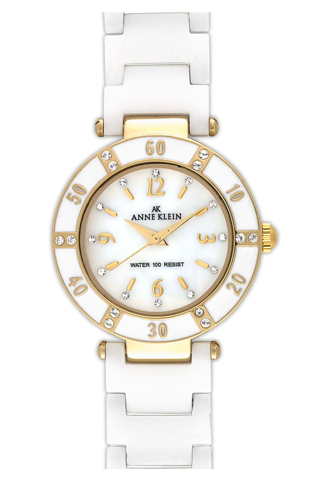,                             Round Ceramic Bracelet Watch, 31mm,                             Main thumbnail 6, color,                             101