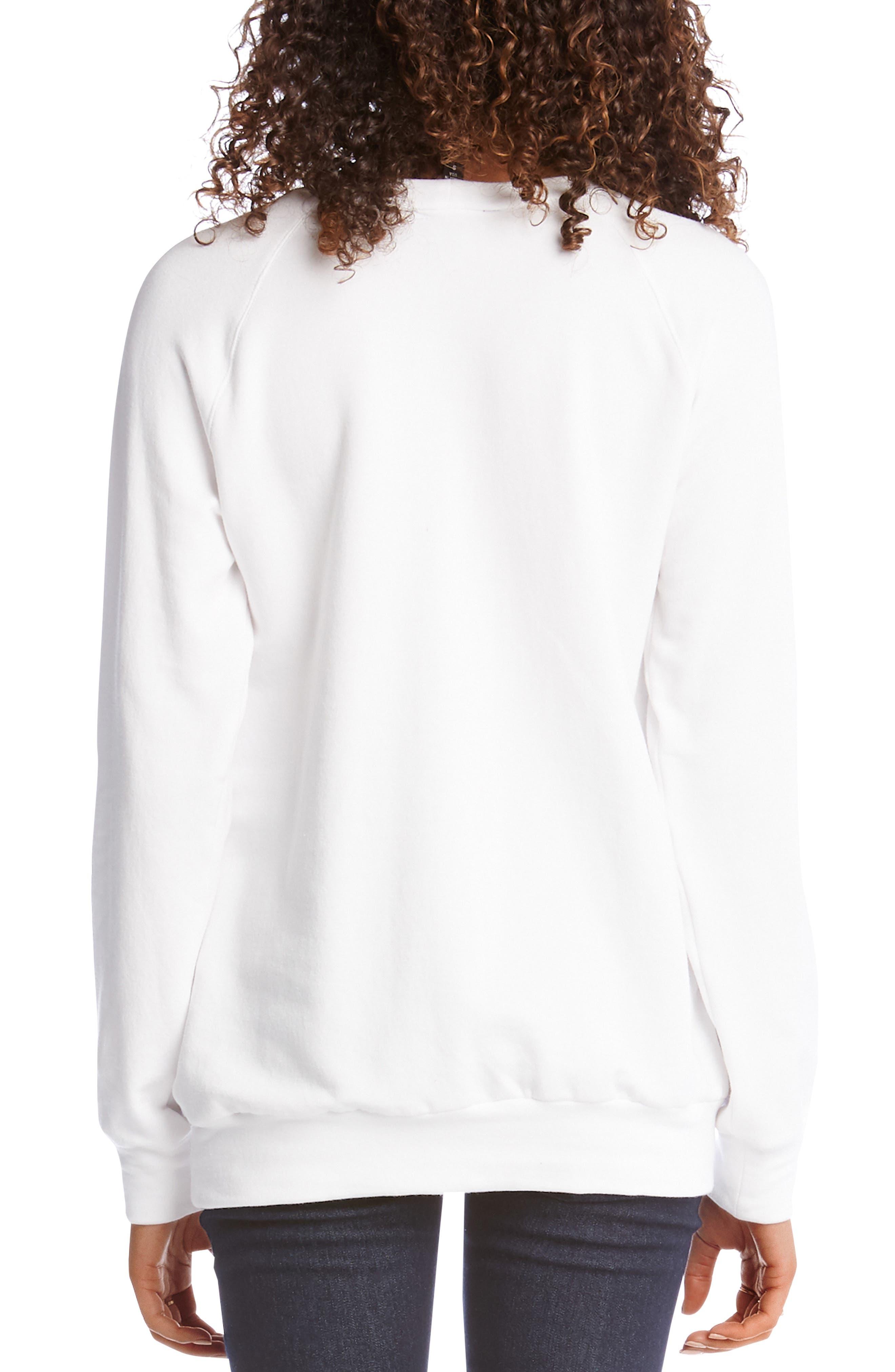 ,                             Zebra Print Sweatshirt,                             Alternate thumbnail 2, color,                             100