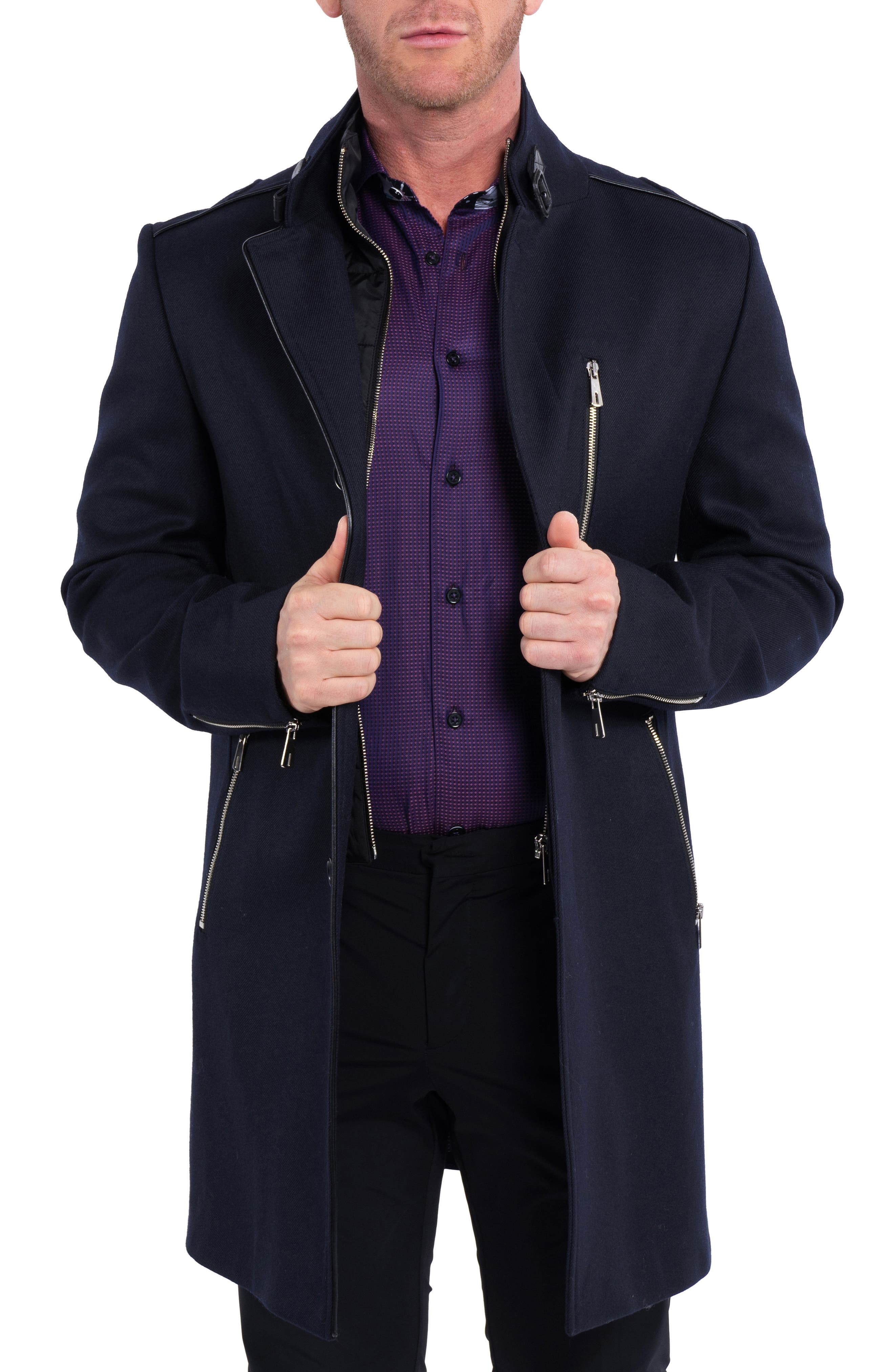 Captainnew Wool & Cashmere Overcoat