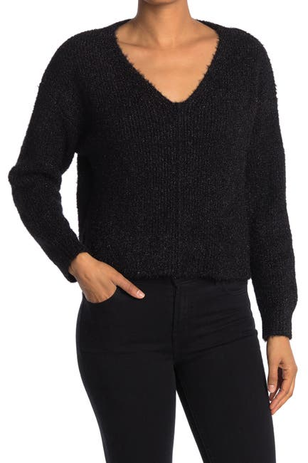 Image of Abound V-Neck Fuzzy Knit Pullover Sweater