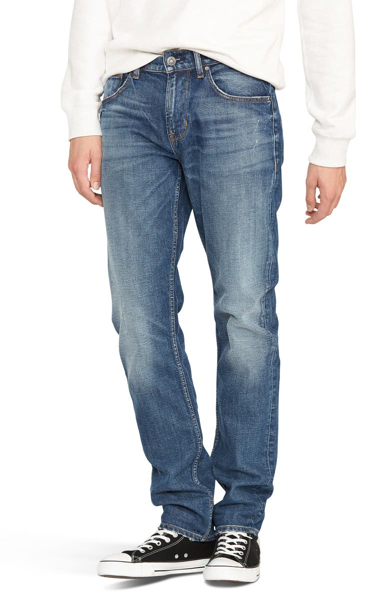 HUDSON JEANS Blake Slim Fit Jeans, Main, color, HARD BALL